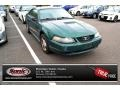 2002 Electric Green Metallic Ford Mustang V6 Coupe  photo #1