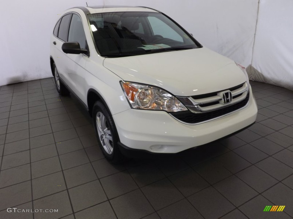 2011 CR-V EX - Taffeta White / Gray photo #1