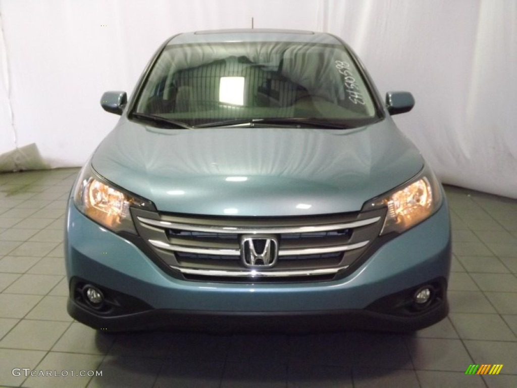 2014 CR-V EX - Mountain Air Metallic / Beige photo #2