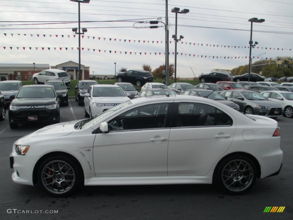 Attractive Wicked White 2014 Mitsubishi Lancer Evolution MR Exterior Photo #87612136