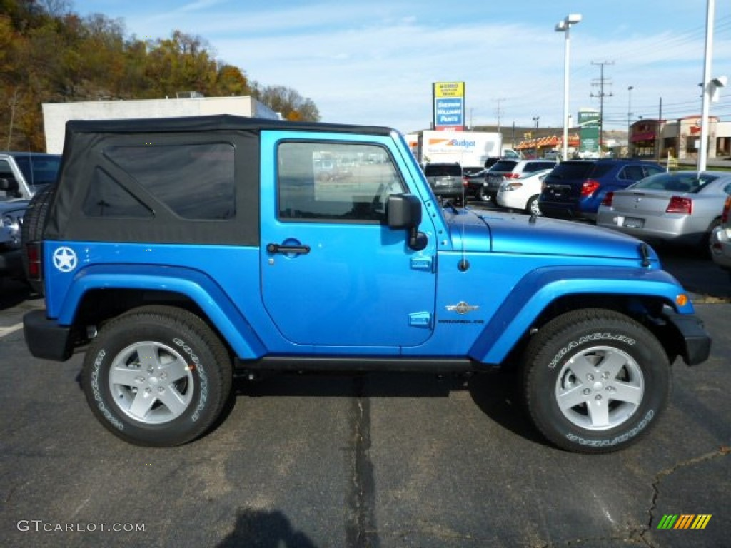 Hydro blue pearl coat 2014 jeep wrangler freedom edition 4x4 exterior photo 87613834 gtcarlot com