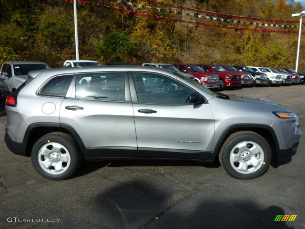 billet silver metallic 2014 jeep cherokee sport exterior photo. Cars Review. Best American Auto & Cars Review