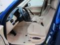 2008 BMW X3 Beige Interior Front Seat Photo