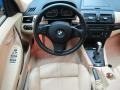 2008 BMW X3 Beige Interior Dashboard Photo