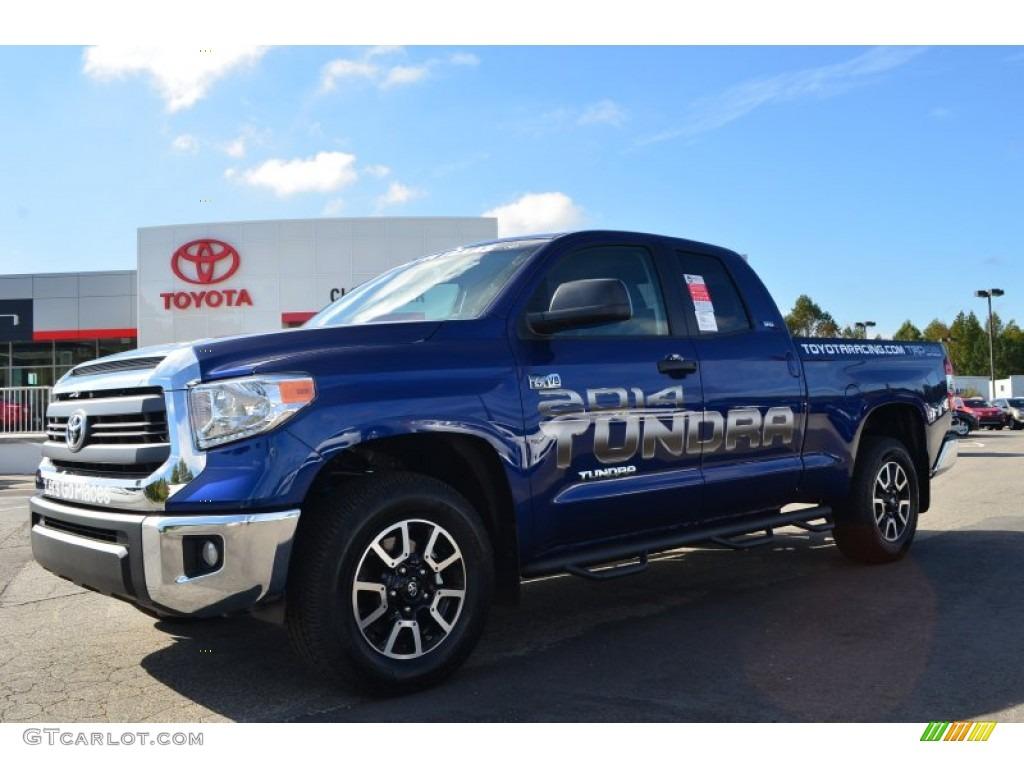 2014 Tundra SR5 Double Cab 4x4 - Blue Ribbon Metallic / Graphite photo #1
