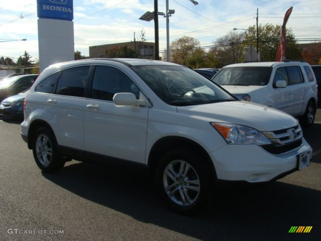 2011 CR-V EX-L 4WD - Taffeta White / Gray photo #1
