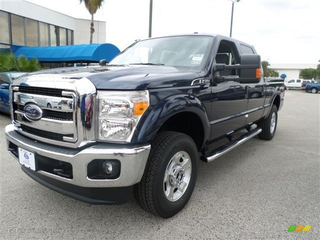2014 Ford F250 Super Duty King Ranch Crew Cab 4x4 Blue Jeans Metallic