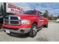 2005 Flame Red Dodge Ram 3500 SLT Quad Cab Dually #87618316