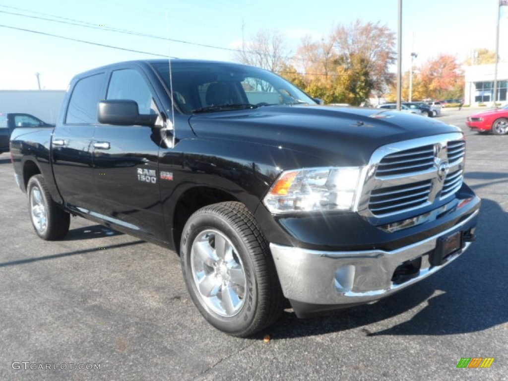 2014 black ram 1500 slt crew cab 4x4 87666175 car color galleries. Black Bedroom Furniture Sets. Home Design Ideas