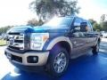 2014 Blue Jeans Metallic Ford F250 Super Duty King Ranch Crew Cab 4x4 #87665666