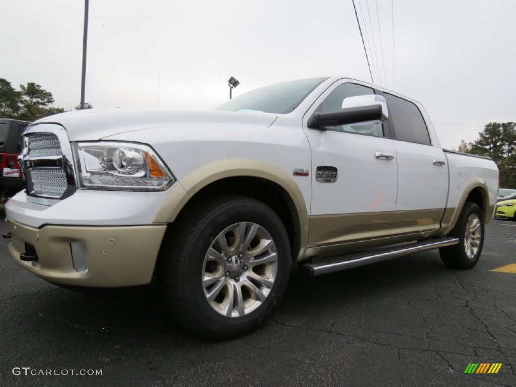 bright white 2014 ram 1500 laramie longhorn crew cab 4x4 exterior photo 87692846. Black Bedroom Furniture Sets. Home Design Ideas