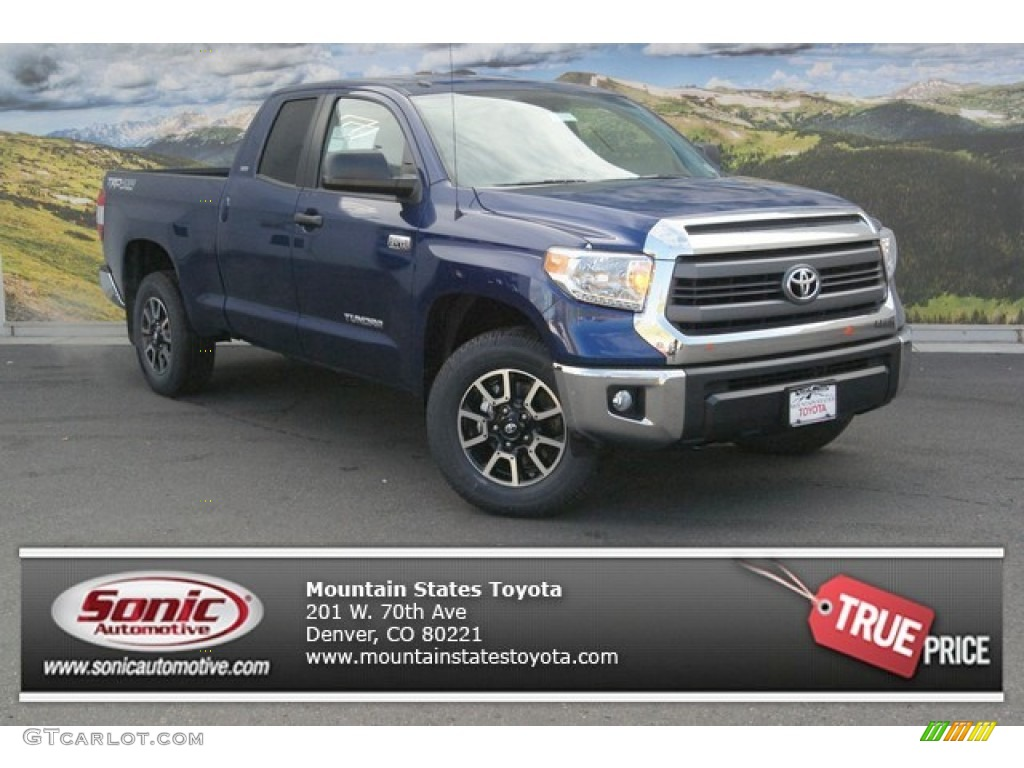 2014 Tundra SR5 TRD Double Cab 4x4 - Blue Ribbon Metallic / Black photo #1