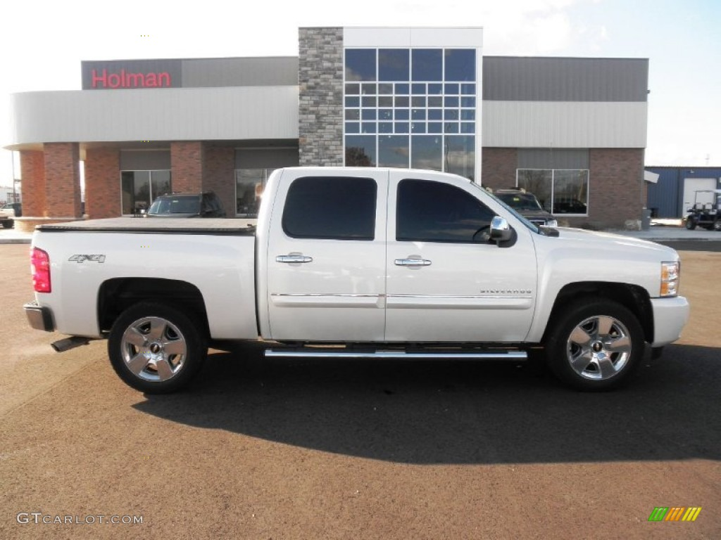 2011 Silverado 1500 LTZ Crew Cab 4x4 - White Diamond Tricoat / Ebony photo #1