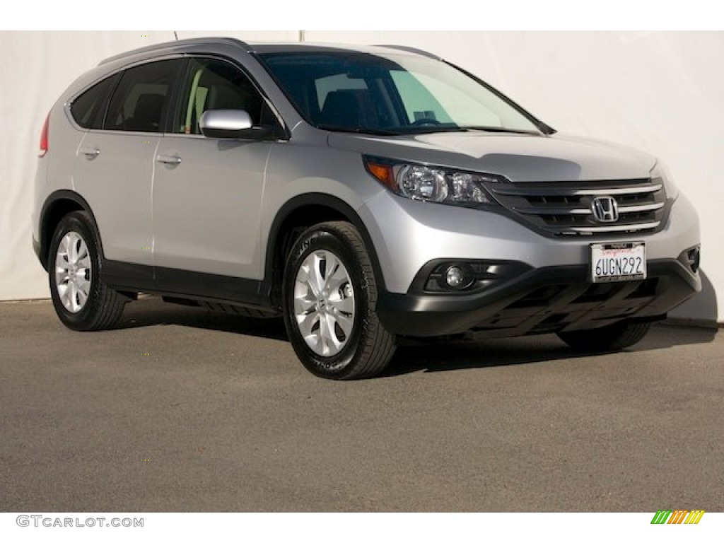 2012 CR-V EX-L - Alabaster Silver Metallic / Black photo #1