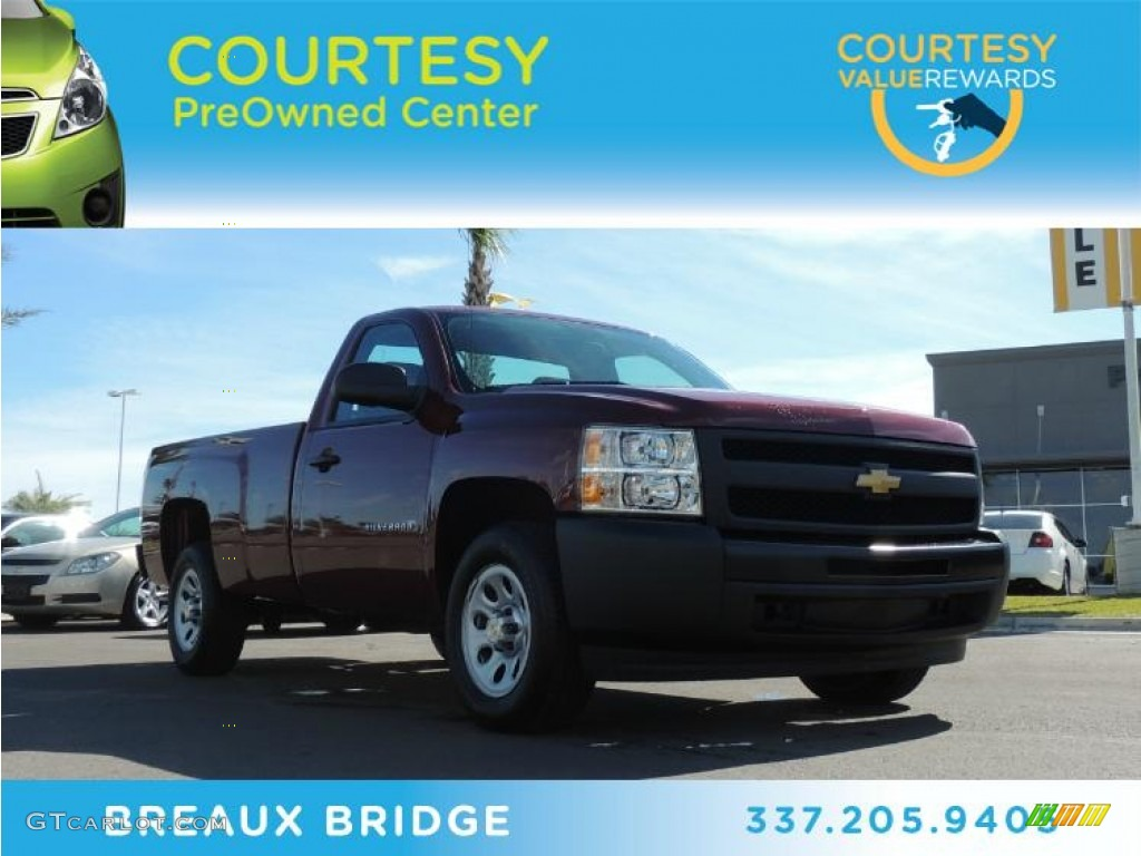 2013 Silverado 1500 Work Truck Regular Cab - Deep Ruby Metallic / Dark Titanium photo #1