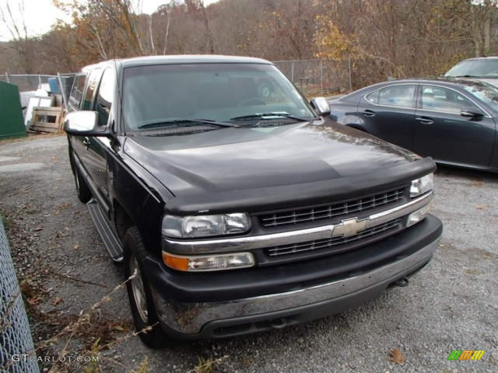2001 Silverado 1500 LS Extended Cab 4x4 - Medium Charcoal Gray Metallic / Graphite photo #1