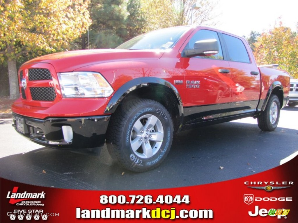 2014 flame red ram 1500 outdoorsman crew cab 4x4 87714118