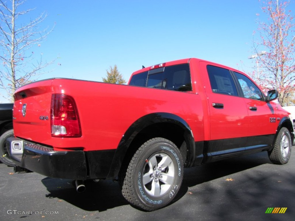 flame red 2014 ram 1500 outdoorsman crew cab 4x4 exterior