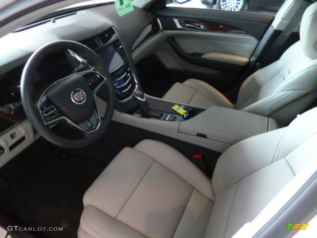Light Platinum Jet Black Interior 2014 Cadillac Cts Sedan