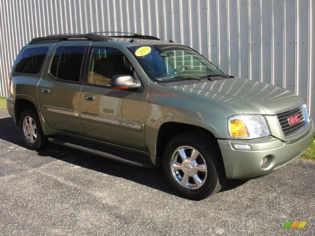 2004 silver green metallic gmc envoy xl slt 4x4 87763429. Black Bedroom Furniture Sets. Home Design Ideas