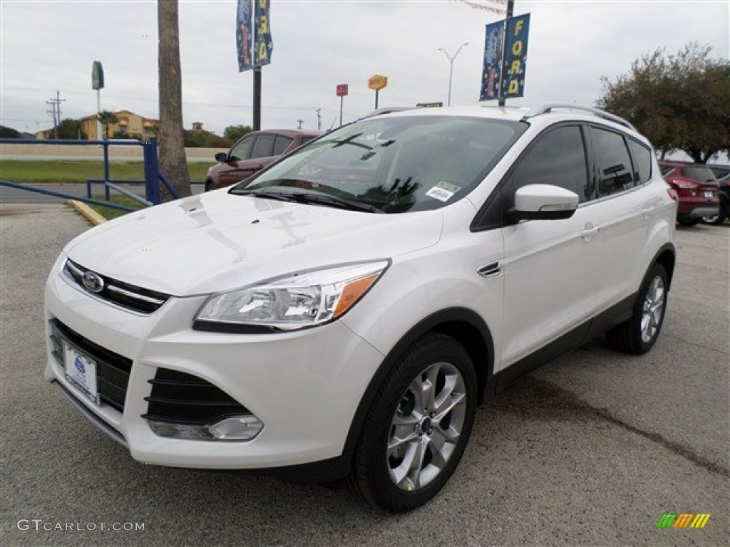 2014 Escape Titanium 1.6L EcoBoost - White Platinum / Medium Light Stone photo #1