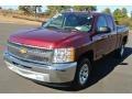 2013 Deep Ruby Metallic Chevrolet Silverado 1500 LT Extended Cab  photo #2