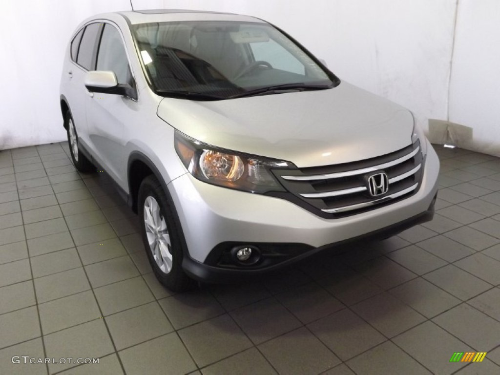 2014 CR-V EX - Alabaster Silver Metallic / Gray photo #1