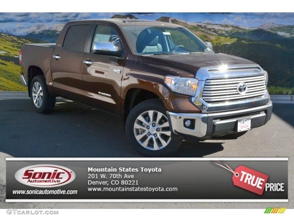 2014 Tundra Limited Crewmax 4x4 - Sunset Bronze Mica / Black photo #1