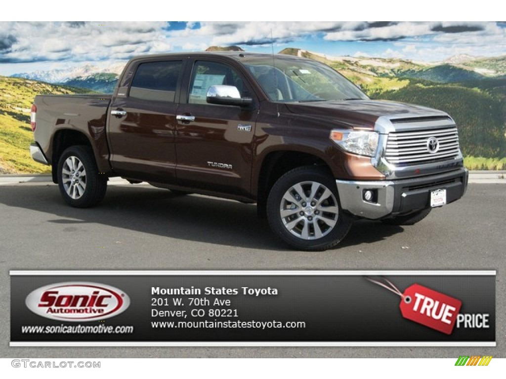 2014 Tundra Limited Crewmax 4x4 - Sunset Bronze Mica / Sand Beige photo #1