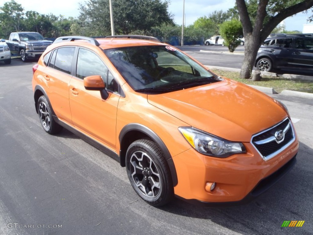 2014 tangerine orange pearl subaru xv crosstrek limited 87865337 car. Black Bedroom Furniture Sets. Home Design Ideas