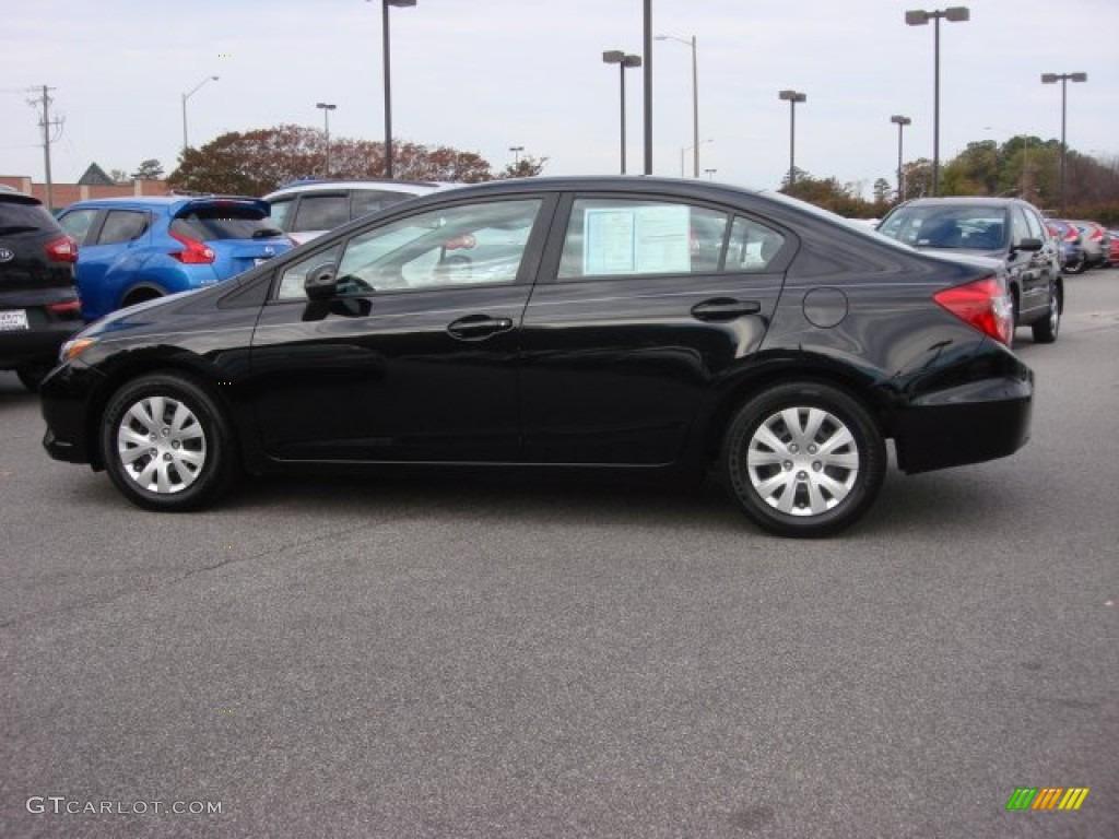 Crystal black pearl 2012 honda civic lx sedan exterior for 2012 honda civic lx specs