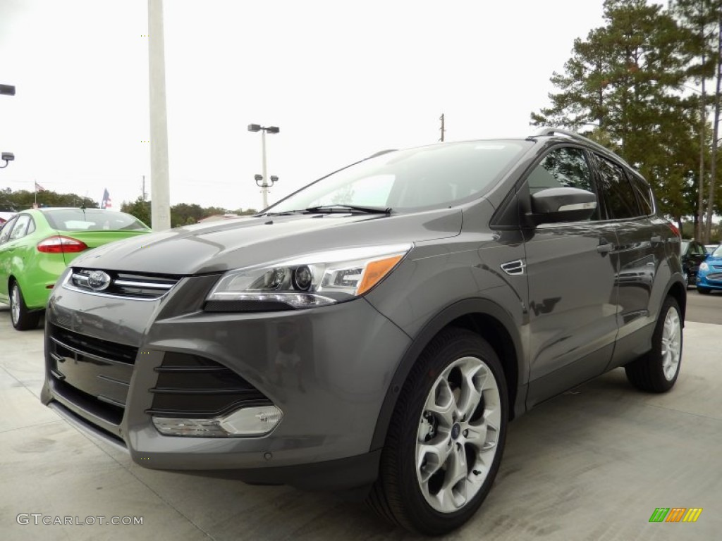 2014 Escape Titanium 2.0L EcoBoost - Sterling Gray / Medium Light Stone photo #1