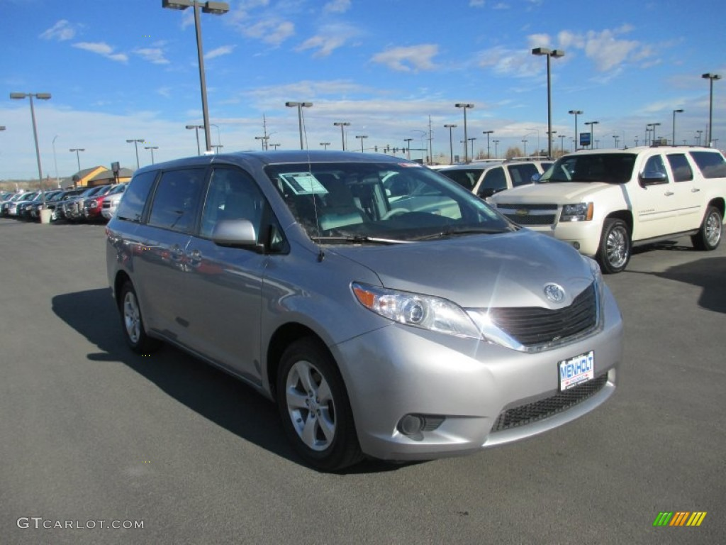 2012 Sienna  - Silver Sky Metallic / Light Gray photo #1
