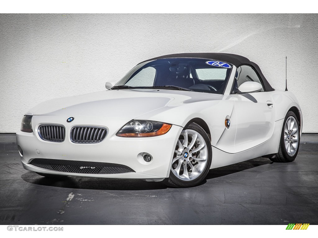Alpine White 2004 Bmw Z4 2 5i Roadster Exterior Photo