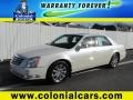 White Diamond Tricoat 2008 Cadillac DTS