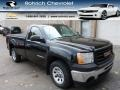 Carbon Black Metallic 2009 GMC Sierra 1500 Work Truck Regular Cab