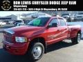 2005 Flame Red Dodge Ram 3500 SLT Quad Cab 4x4 Dually #87910971