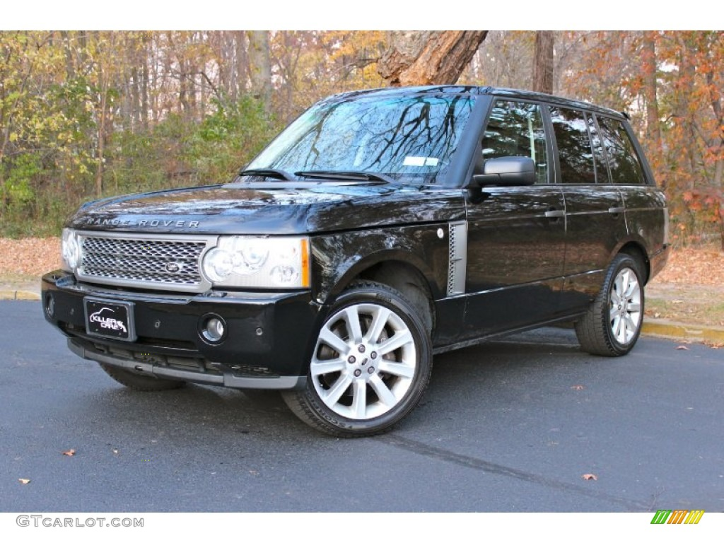 2007 Range Rover Supercharged - Java Black Pearl / Jet Black photo #3