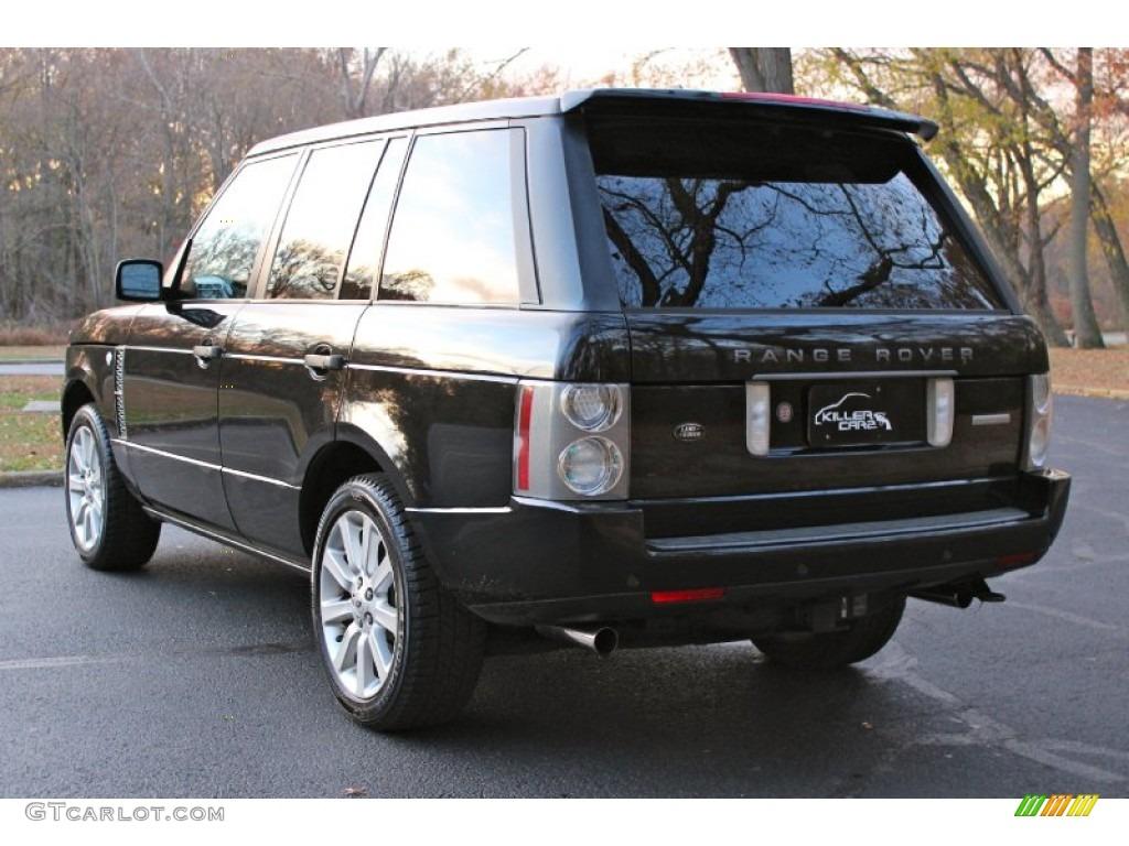 2007 Range Rover Supercharged - Java Black Pearl / Jet Black photo #5