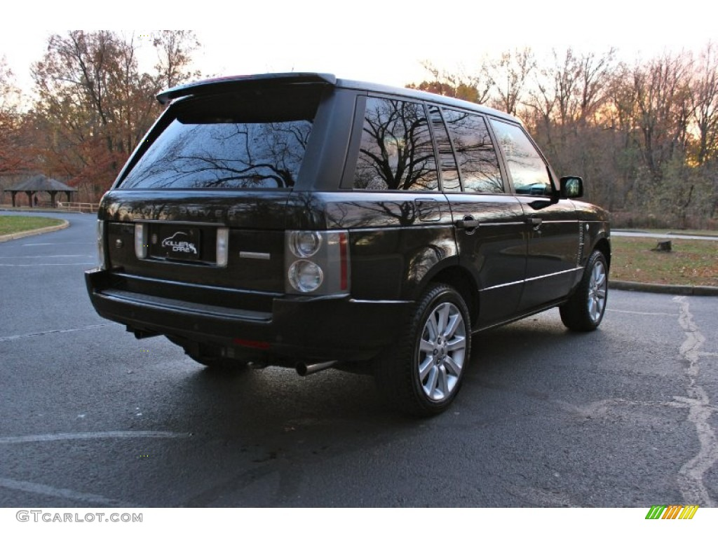 2007 Range Rover Supercharged - Java Black Pearl / Jet Black photo #9