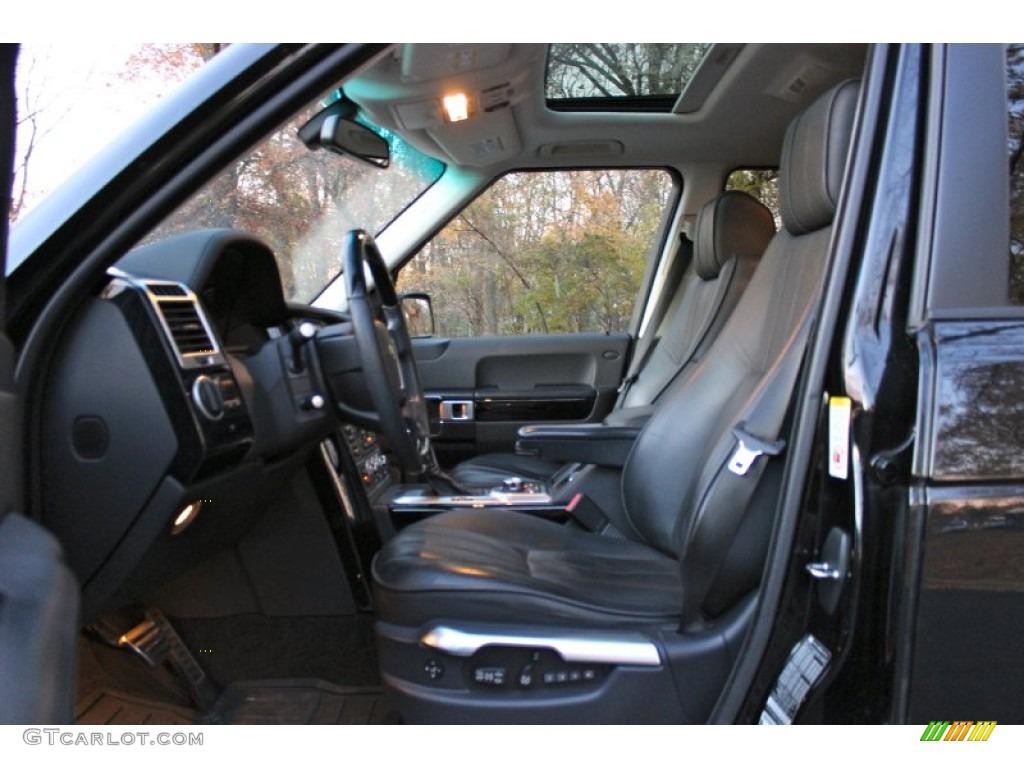 2007 Range Rover Supercharged - Java Black Pearl / Jet Black photo #16