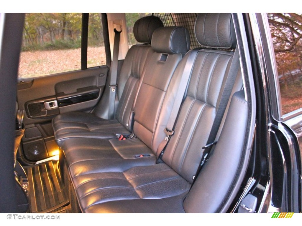 2007 Range Rover Supercharged - Java Black Pearl / Jet Black photo #24
