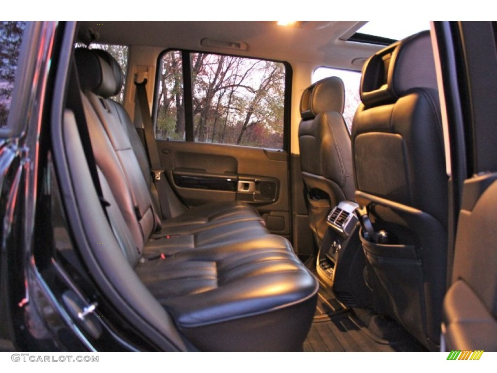 2007 Range Rover Supercharged - Java Black Pearl / Jet Black photo #33