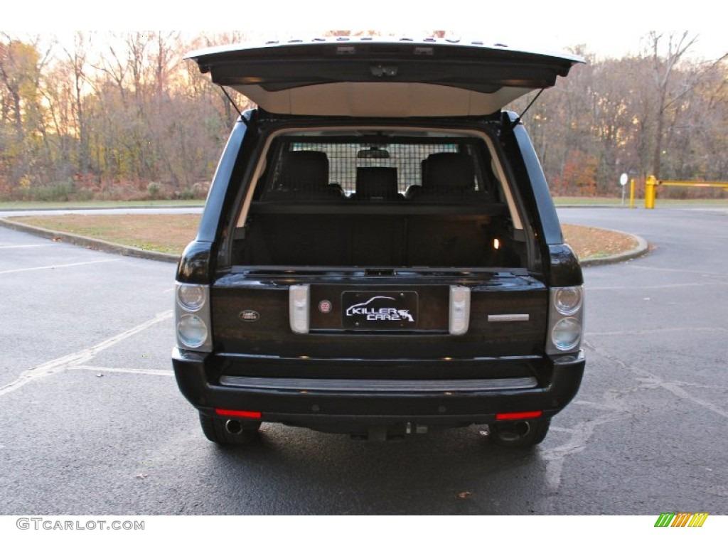 2007 Range Rover Supercharged - Java Black Pearl / Jet Black photo #37
