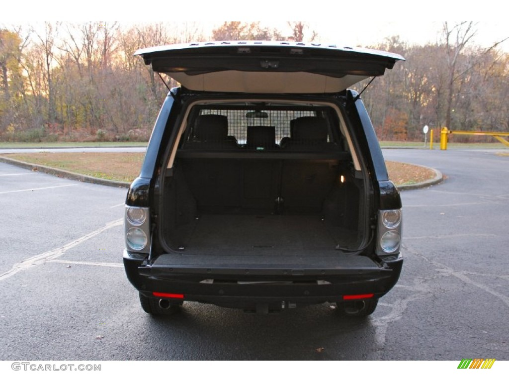 2007 Range Rover Supercharged - Java Black Pearl / Jet Black photo #38
