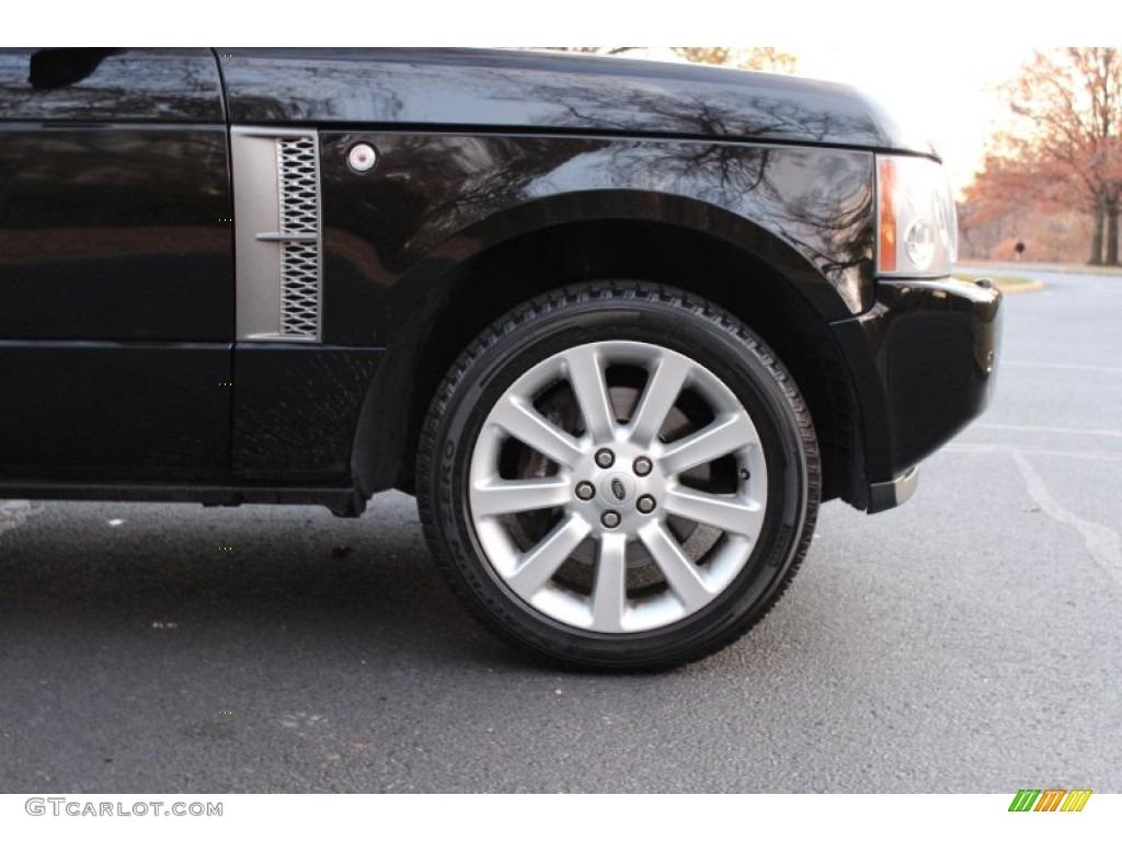 2007 Range Rover Supercharged - Java Black Pearl / Jet Black photo #40