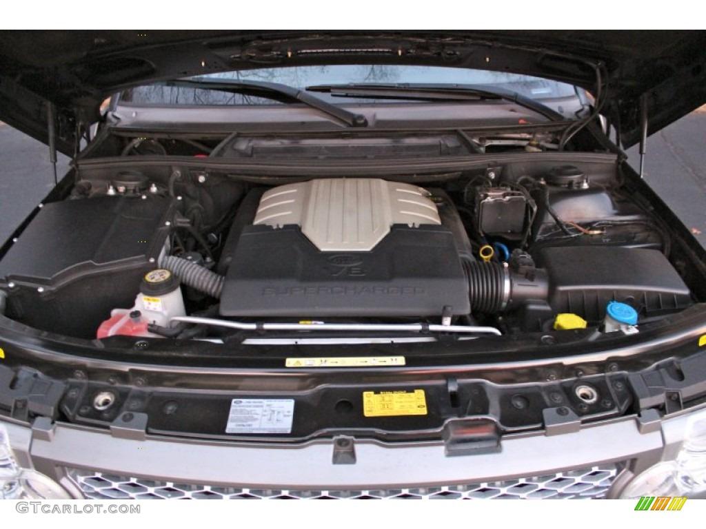 2007 Range Rover Supercharged - Java Black Pearl / Jet Black photo #41