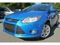 2012 Blue Candy Metallic Ford Focus SE Sedan #87958039