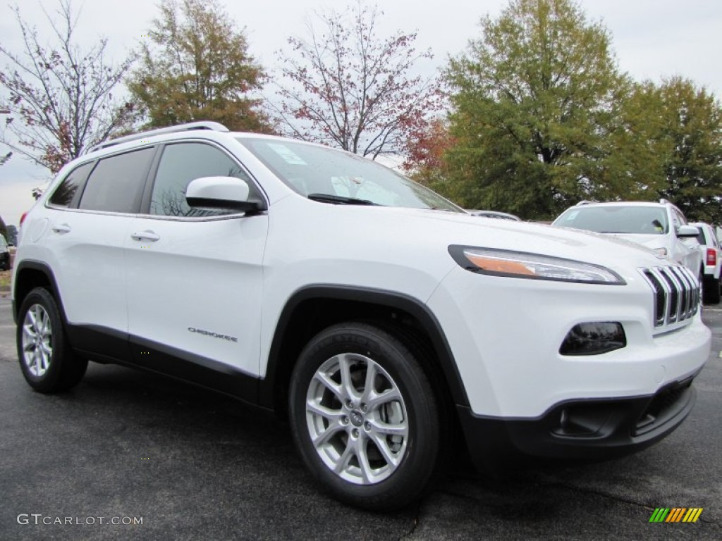 bright white 2014 jeep cherokee latitude exterior photo 87974796. Black Bedroom Furniture Sets. Home Design Ideas