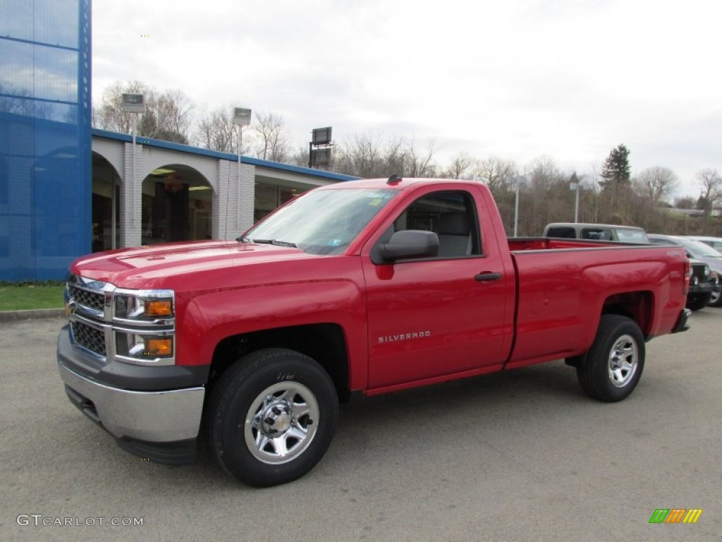 2014 victory red chevrolet silverado 1500 wt regular cab 4x4 87957782 car. Black Bedroom Furniture Sets. Home Design Ideas